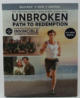 Unbroken: Path to Redemption  [Blu-ray + DVD + Digital] Slipcover BRAND NEW!