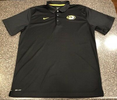 24afe0589 MISSOURI TIGERS NIKE Polo Golf Shirt XL NCAA Gray Mizzou DRI-FIT ...