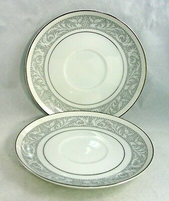 """Imperial China Whitney 6.25"""" Saucer # 5671 by W Dalton (Set of 2)"""