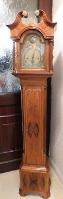 pretty weight  driven striking walnut cased grandaughter longcase clock