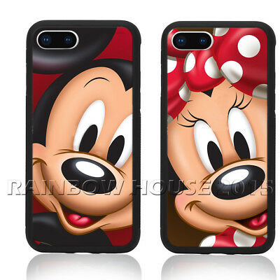 Cute Mickey Mouse Minnie Lovers Phone Case For iPhone XS Max Note 9 S10 Cover