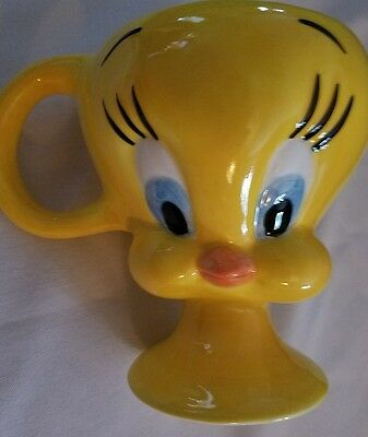 *new*Tweety Bird 3D Large Mug Cup Yellow  Looney Tunes Warner Brothers pedestal