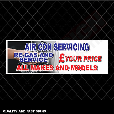 AIR CON Service Repair All Makes Mod Signage Colour Sign Printed Heavy Duty 4084