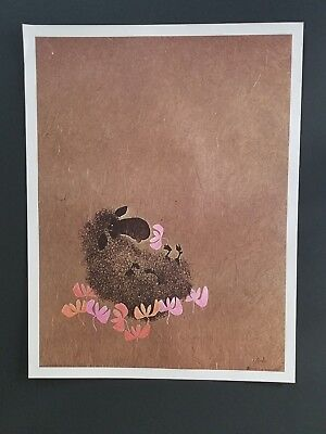 ORIGINAL 1971 POSTER SHEEP IN A BED OF FLOWER POWER  VINTAGE 71 FARM 1970s RAM