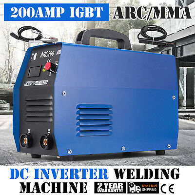 200Amp Inverter Arc Welder Machine Dual Voltage 110V/220V AC PWM MMA WISE CHOICE