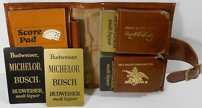 Vintage Anheuser Busch 1973 Sales Convention Playing Cards In Case Budweiser