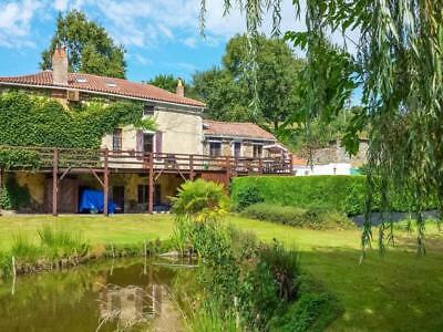 France:400 Yr Old Mill:stocked Lake:heated Salt Water  Pool:in 1.5 Acres:£263000