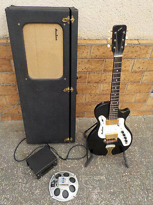 vintage rare 60s AIRLINE 7214 Guitar with Amp in Case made in USA by Valco Supro