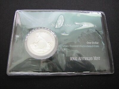 2012 $1 Kangaroo Series 1 oz. Silver Frosted Coin (20,000 Minted)