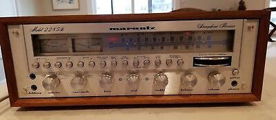 Vintage Marantz 2285B AM/FM Stereo Receiver with Wood Case TESTED & WORKING
