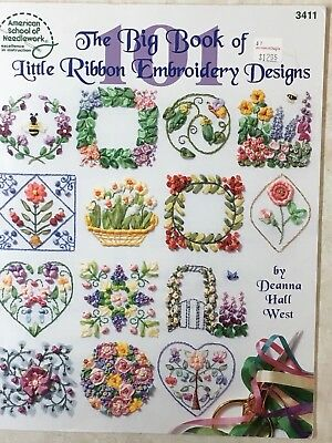 ASN The Big Book of Little Ribbon Embroidery Designs Pattern Book by Deanna West