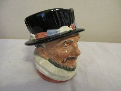 """Royal Doulton BEEFEATER D6206 Large Toby Character Jug, 6 3/4"""" tall - Lovely"""