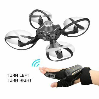 RC Mini Drone Quadcopter Foldable Remote, Hand controlled kids Toys Helicopter