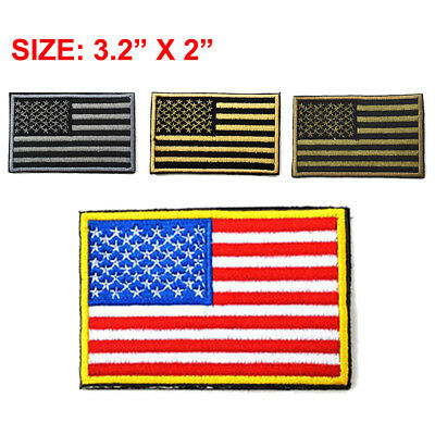 AMERICAN FLAG Embroidered Patch Iron-on America Tactical United States Patch USA