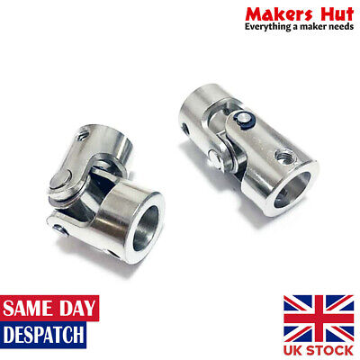 Universal Joint Coupling Steering Connector - 4x4 5x5 6x6 8x8 10x10 mm