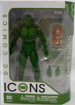 Dc Comics Icons Action Figure Swamp Thing Boxed Brand New