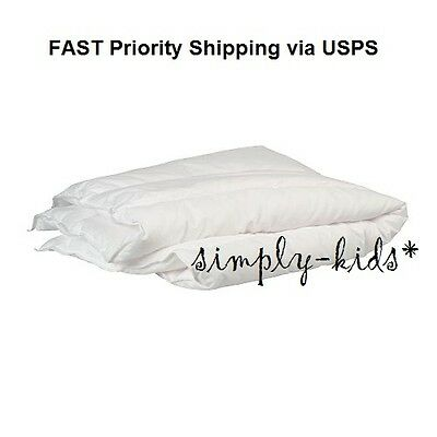 NEW Ikea LEN Crib Comforter White Kids Room Bedroom Toddler Bed Duvet Insert FS