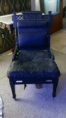 Antique Victorian Aesthetic ebonized chair