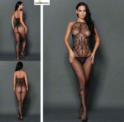 SEXY Reizwäsche Fishnet Body Stocking Catsuit Netz Body Unterwäsche |H| 79915-2
