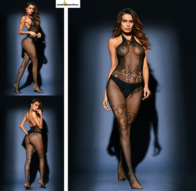 Hot Reizwäsche Fishnet Body Stocking Catsuit Netz Body Unterwäsche |H| 79955-2