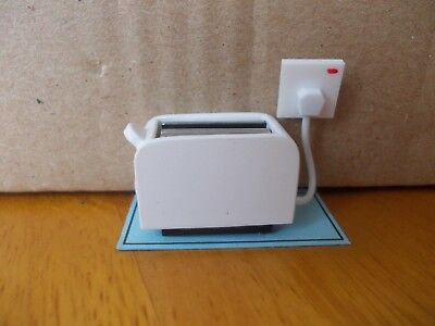 Modern Non Working Whte Toaster For A Dolls House