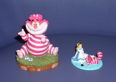 ^..^ Disney Cheshire Cat Bobble Head Statue/figure & Tokyo Mini With Alice ^..^