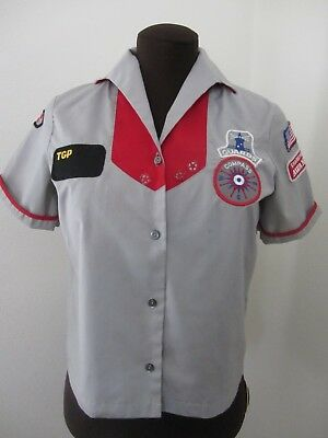 Vintage AWANA Girls Uniform 9 Patches 1980s Christian Bible Youth Group Size 14