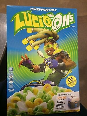 *NEW* Limited Edition Lucio OH'S Cereal Blizzard Overwatch Kellogg's 10.1oz PS4