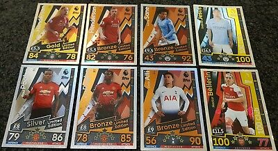 Match Attax 2018/19 EPL - Discount Limited Edition & 100 Club Buy 3 Get 1 FREE