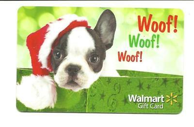 Walmart Woof Woof Woof Cute Dog w/ Santa Hat Gift Card No $ Value Collectible