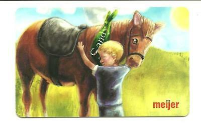 Meijer Cute Boy w/ Horse Gift Card No $ Value Collectible