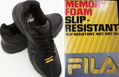 3acb4942 FILA MEMORY WORKSHIFT Slip Resistant Men's Work Shoe - Black