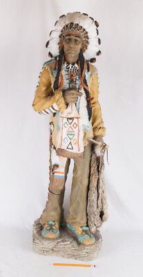 """Vintage Native American Indian Statue, 41"""" tall"""