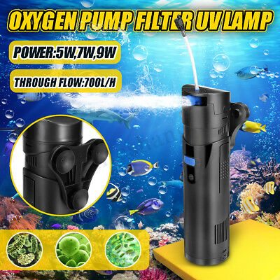 UV Sterilizer Submersible Oxygen Pump Filter Water Cycle For Aquarium Fish