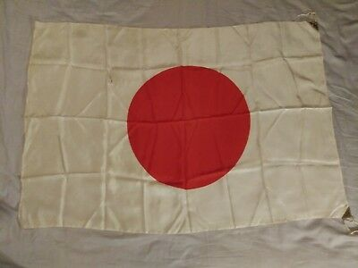 Vintage Original WW2 Japanese Silk Flag 40x28
