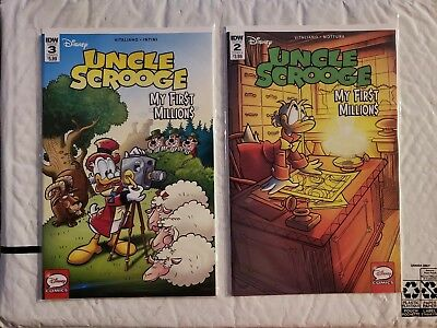 Uncle Scrooge My First Millions #2 & 3 IDW NM Comics Book
