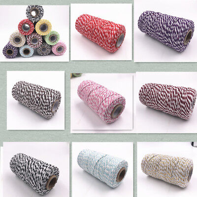 Cotton Multicolor Coloured Twine Bundle Best Quality100m String Ribbon Craft