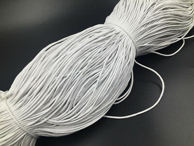 5M Waxed Cotton Cord Necklace 2mm White String Bracelet Rope Braided Thread