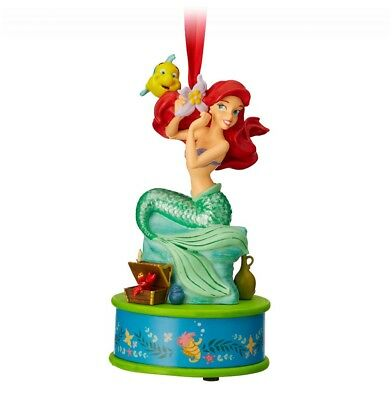 Disney Little Mermaid Ornament Christmas Living Magic Singing Ariel Figurine