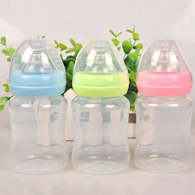 180ml  Portable Baby Bottle Infant Newborn Water Feeding Nursing Nipple PP Cup