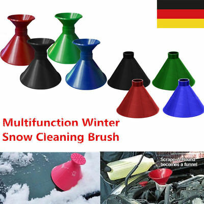 Magic Round Ice Scraper-Cars Windshield Snow Dual Cleaning Brush Scrape