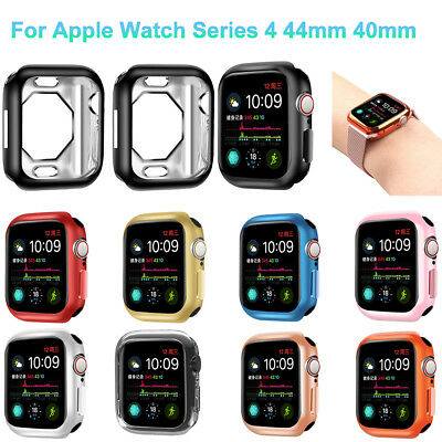 For Apple Watch Series 4 40/44MM Soft Clear TPU Protective Case Cover