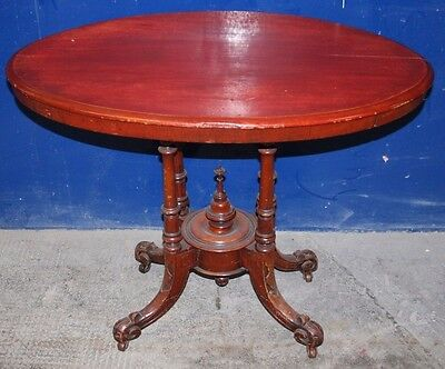 Quality ~Antique ~Victorian? ~Mahogany? ~Occasional Table ~Oval Table ~ Ornate