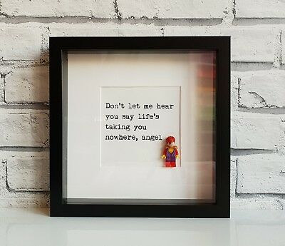 David Bowie Mini Figure Frame (Dad • Daddy • Fathers Day • Christmas • Lego)