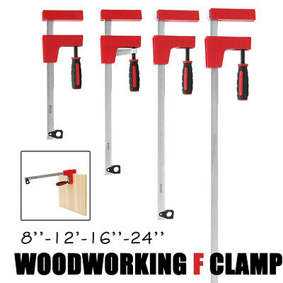 8''-24'' F Clamps Bar Clamp Parallel Adjustable Quick Slide Wood Tool #45 Steel