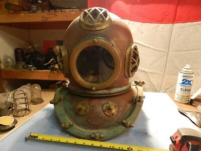 Vintage Very cool Real Deal Korean Dive Helmet