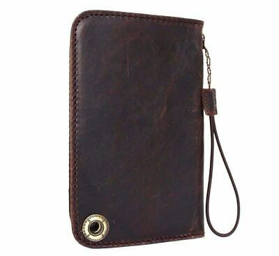Genuine leather Case for apple iphone 8 handmade cover real book luxury IPHONE 7