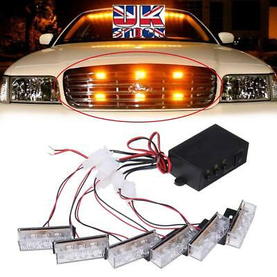 Recovery truck 3 led lights x 6 with controller box ideal hazard warning scrap