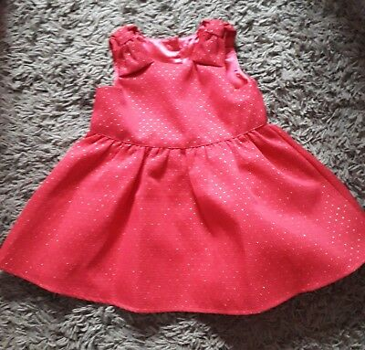 814c7fe5dc972 GIRLS CHRISTMAS RED And Gold Matalan Dress 9 -12 Months - £0.99 ...