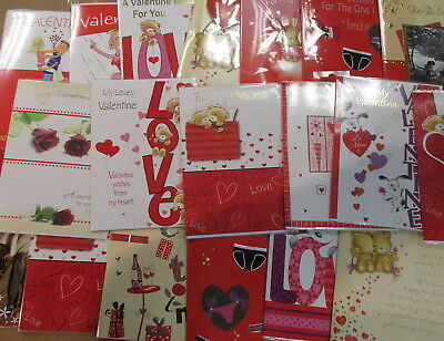 Bulk Lot Valentines Day Cards Indivdually cello wrapped QUALITY *ANY QUANTITY*